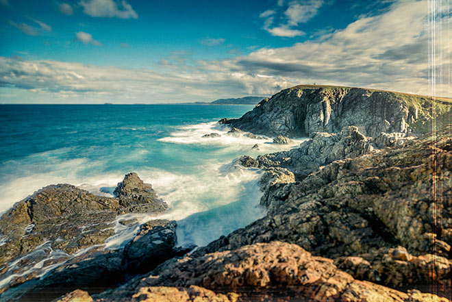 "The ""Gem"" Coast North of Coffs Harbour, great stretches of beach and rugged coastline"